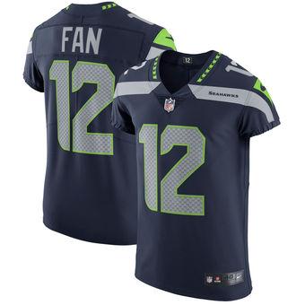 Nike Seattle Seahawks #12 Fan Vapor Untouchable Elite Player College Navy Jersey