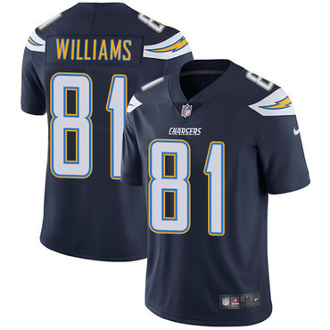 Nike Los Angeles Chargers #81 Mike Williams Navy Blue Team Color Men's Stitched NFL Vapor Untouchable Limited Jersey