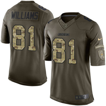 ... Blue Nike Los Angeles Chargers 81 Mike Williams Green Mens Stitched NFL  Limited Salute to Service Nike Chargers 80 Kellen Winslow ... 5b707d3d1