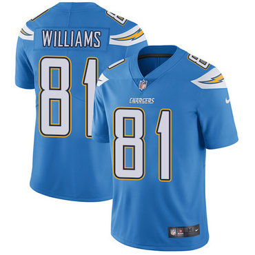 Nike Los Angeles Chargers #81 Mike Williams Electric Blue Alternate Men's Stitched NFL Vapor Untouchable Limited Jersey