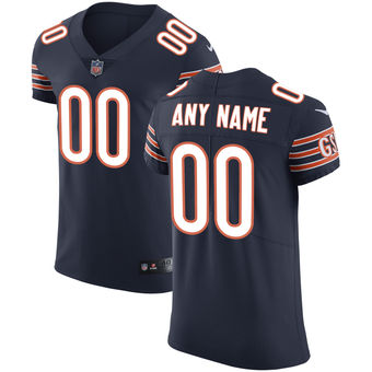 Men's Chicago Bears Nike Navy Vapor Untouchable Custom Elite Jersey