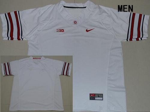 Men's Ohio State Buckeyes Custom College Football Nike Limited Jersey - 2016 White