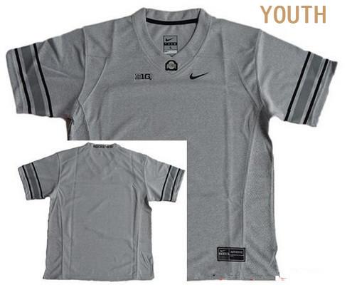 Youth Ohio State Buckeyes Custom College Football Nike Limited Jersey - Heather Gridiron Gray II
