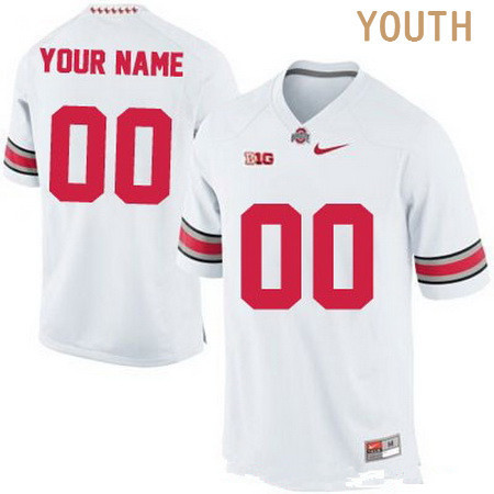 Youth Ohio State Buckeyes Custom College Football Nike Limited Jersey - 2015 White