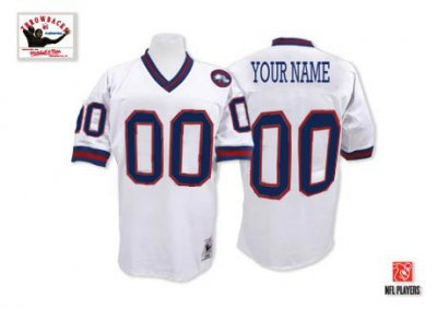 Customized New York Giants Jersey Throwback White Football Jersey