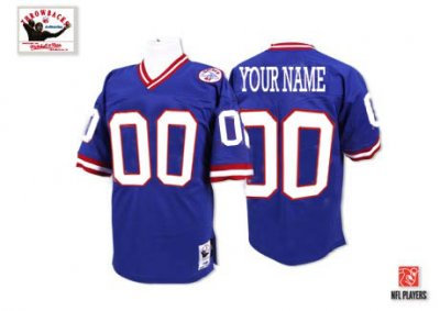 Customized New York Giants Jersey Throwback Blue Football Jersey