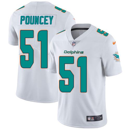 Youth Nike Dolphins #51 Mike Pouncey White Stitched NFL Vapor Untouchable Limited Jersey