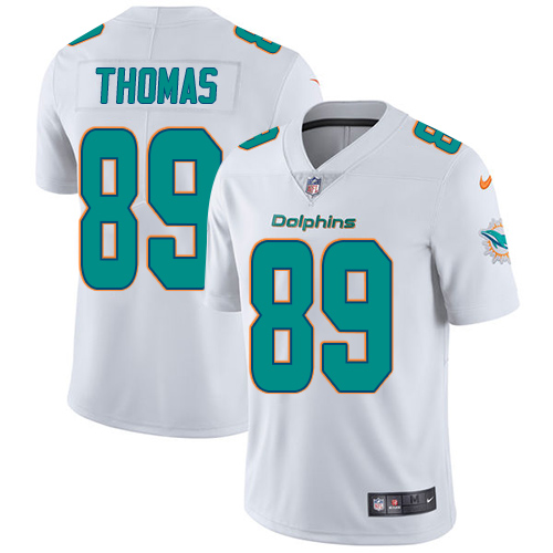ID91454 Youth Nike Dolphins #89 Julius Thomas White Stitched NFL Vapor Untouchable Limited Jersey