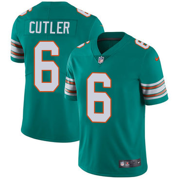 Youth Nike Dolphins #6 Jay Cutler Aqua Green Alternate Stitched NFL Vapor Untouchable Limited Jersey