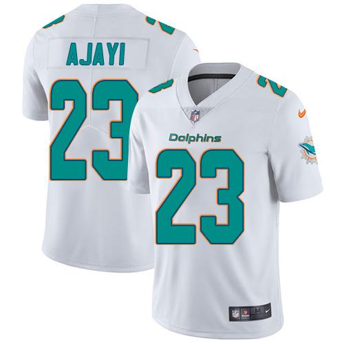 Youth Nike Dolphins #23 Jay Ajayi White Stitched NFL Vapor Untouchable Limited Jersey