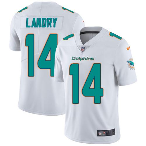 Youth Nike Dolphins #14 Jarvis Landry White Stitched NFL Vapor Untouchable Limited Jersey