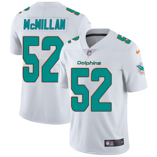 Youth Nike Dolphins #52 Raekwon McMillan White Stitched NFL Vapor Untouchable Limited Jersey