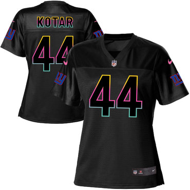 Women's Nike Giants #44 Doug Kotar Black NFL Fashion Game Jersey