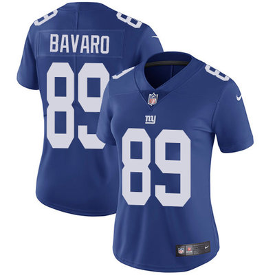 ID91410 Women\'s Nike Giants #89 Mark Bavaro Royal Blue Team Color Stitched NFL Vapor Untouchable Limited Jersey