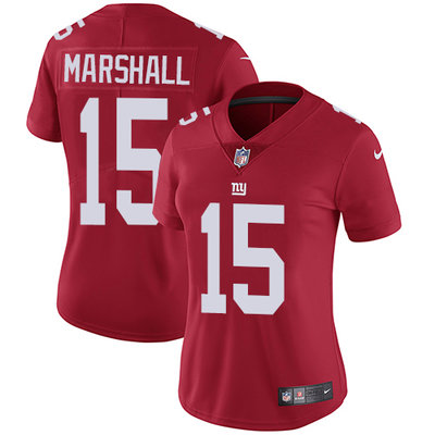 ID91399 Women\'s Nike Giants #15 Brandon Marshall Red Alternate Stitched NFL Vapor Untouchable Limited Jersey