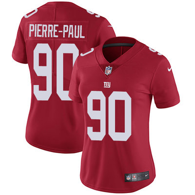 ID91415 Women\'s Nike Giants #90 Jason Pierre-Paul Red Alternate Stitched NFL Vapor Untouchable Limited Jersey