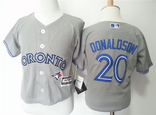 Toddler Toronto Blue Jays #20 Josh Donaldson Gray Road MLB Majestic Baseball Jersey
