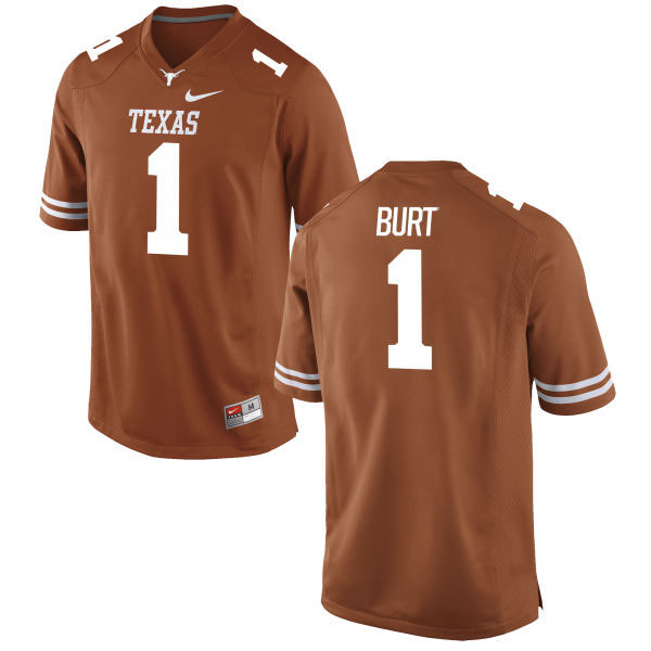 Men's Texas Longhorns 1 John Burt Orange Nike College Jersey