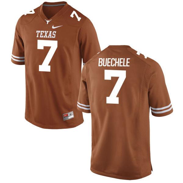 Men's Texas Longhorns 7 Shane Buechele Orange Nike College Jersey