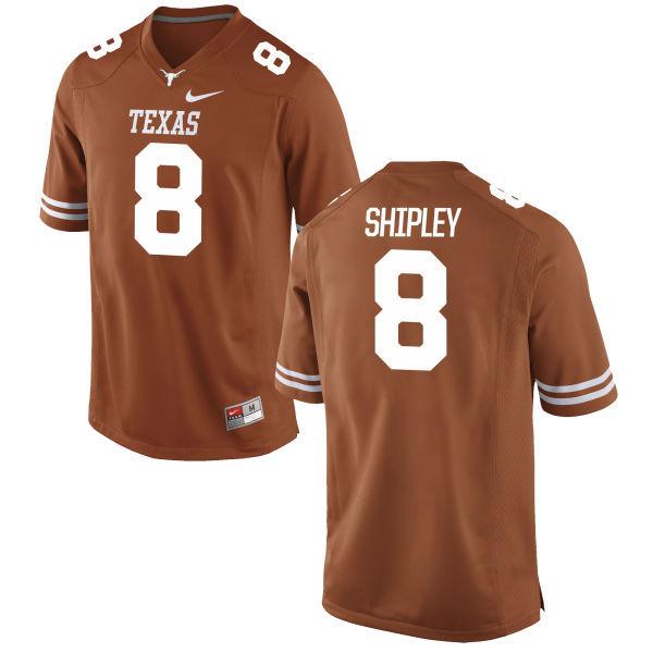 Men's Texas Longhorns 8 Jordan Shipley Orange Nike College Jersey