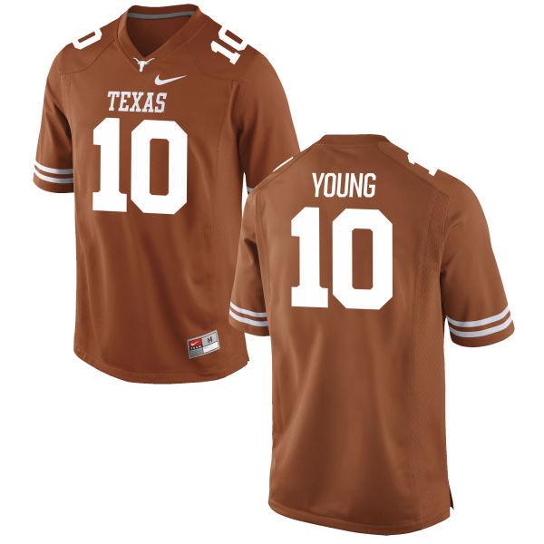 Men's Texas Longhorns 10 Vince Young Orange Nike College Jersey