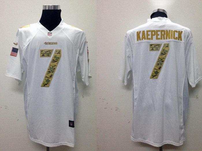 NEW San Francisco 49ers #7 Colin Kaepernick White Jerseys(USA Game)