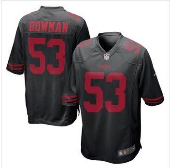 New San Francisco 49ers #53 NaVorro Bowman Black Alternate Game Jersey