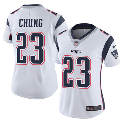 3d429be5dfb Women's Nike Patriots #23 Patrick Chung White Stitched NFL Vapor  Untouchable Limited Jersey