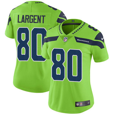 Women s Nike Seahawks  80 Steve Largent Green Stitched NFL Limited Rush  Jersey 3e06a87b6
