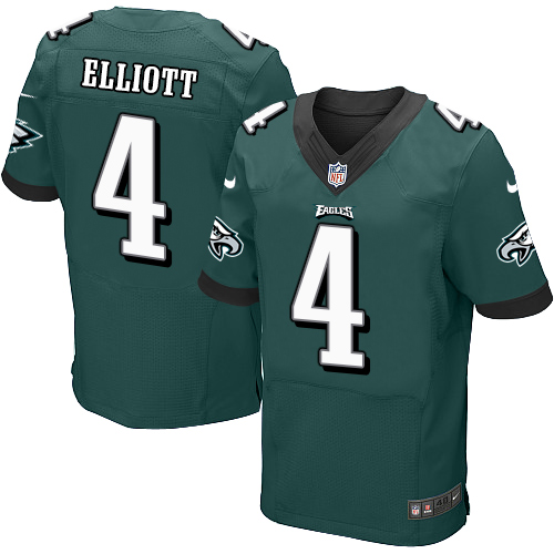 Nike Philadelphia Eagles #4 Jake Elliott Midnight Green Team Color Men's Stitched NFL New Elite Jersey