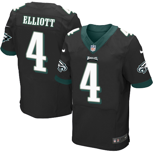 Nike Philadelphia Eagles #4 Jake Elliott Black Alternate Men's Stitched NFL New Elite Jersey