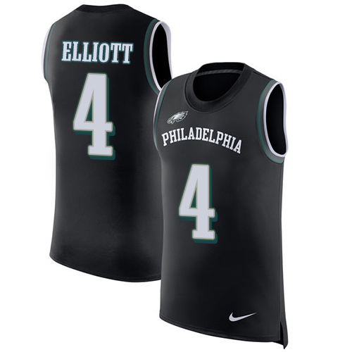 d051355495a ... Nike Philadelphia Eagles 4 Jake Elliott Black Alternate Mens Stitched  NFL Limited Rush Tank Top ...