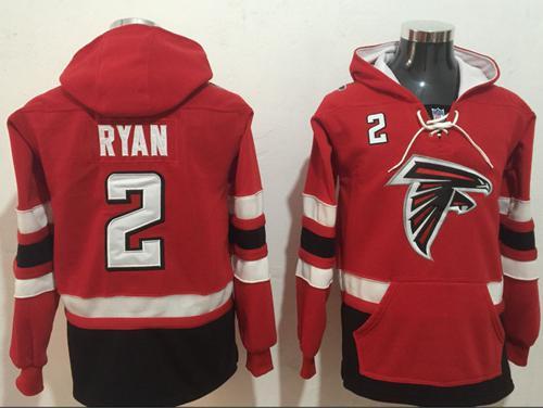 Nike Atlanta Falcons #2 Matt Ryan Red Black Name & Number Pullover NFL Hoodie
