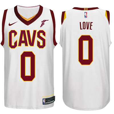 Nike NBA Cleveland Cavaliers #0 Kevin Love Jersey 2017-18 New Season White Jersey