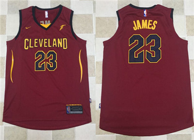 Nike NBA Cleveland Cavaliers #23 LeBron James Jersey 2017-18 New Season Wine Red Jersey