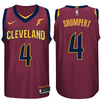 Nike NBA Cleveland Cavaliers #4 Iman Shumpert Jersey 2017-18 New Season Wine Red Jersey
