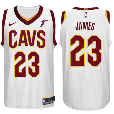 Nike NBA Cleveland Cavaliers #23 LeBron James Jersey 2017-18 New Season White Jersey