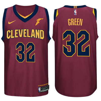 Nike NBA Cleveland Cavaliers #32 Jeff Green Jersey 2017-18 New Season Wine Red Jersey