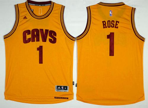 Cleveland Cavaliers #1 Derrick Rose Gold Alternate Stitched NBA Jersey