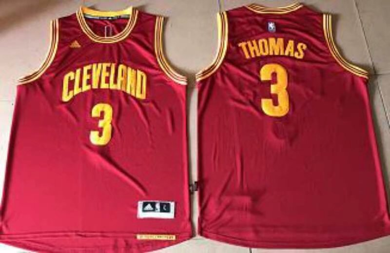 Cleveland Cavaliers #3 Thomas Rose Red Road Stitched NBA Jersey