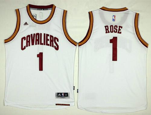 Cleveland Cavaliers #1 Derrick Rose White Home Stitched NBA Jersey