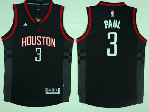 Houston Rockets #3 Chris Paul Black Alternate Stitched NBA Jersey