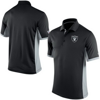 Men's Oakland Raiders Nike Black Team Issue Performance Polo