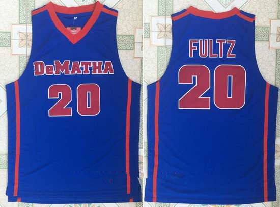 Men's DeMatha Catholic High School #20 Markelle Fultz Royal Blue Retro Swingman Stitched Basketball Jersey
