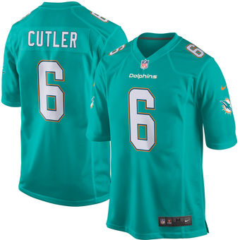 Men s Nike Miami Dolphins  6 Jay Cutler Green Game Jersey on sale ... 88911eb8f