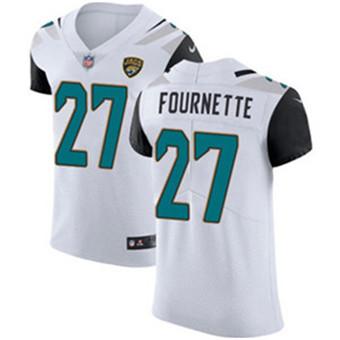 Men's Nike Jacksonville Jaguars #27 Leonard Fournette White Stitched NFL Vapor Untouchable Elite Jersey