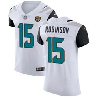 Men's Nike Jacksonville Jaguars #15 Allen Robinson White Stitched NFL Vapor Untouchable Elite Jersey