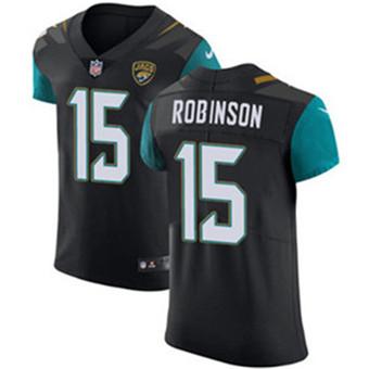 Men's Nike Jacksonville Jaguars #15 Allen Robinson Black Alternate Stitched NFL Vapor Untouchable Elite Jersey