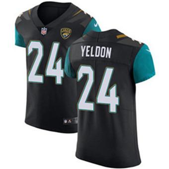 Men's Nike Jacksonville Jaguars #24 T.J. Yeldon Black Alternate Stitched NFL Vapor Untouchable Elite Jersey