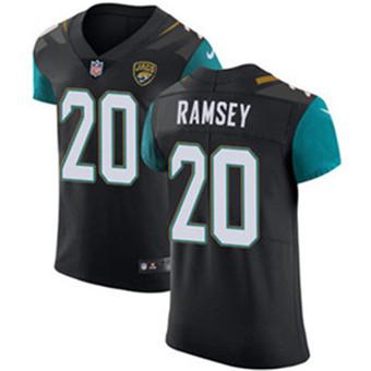 Men's Nike Jacksonville Jaguars #20 Jalen Ramsey Black Alternate Stitched NFL Vapor Untouchable Elite Jersey